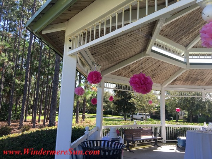 Gazebo takes on a different look and feel with decorations (credit: Windermere Sun-Susan Sun Nunamaker)