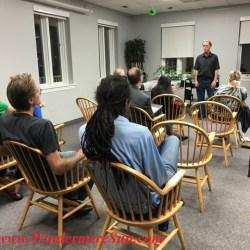 David MacLean speaks (credit: Windermere Sun-Susan Sun Nunamaker)