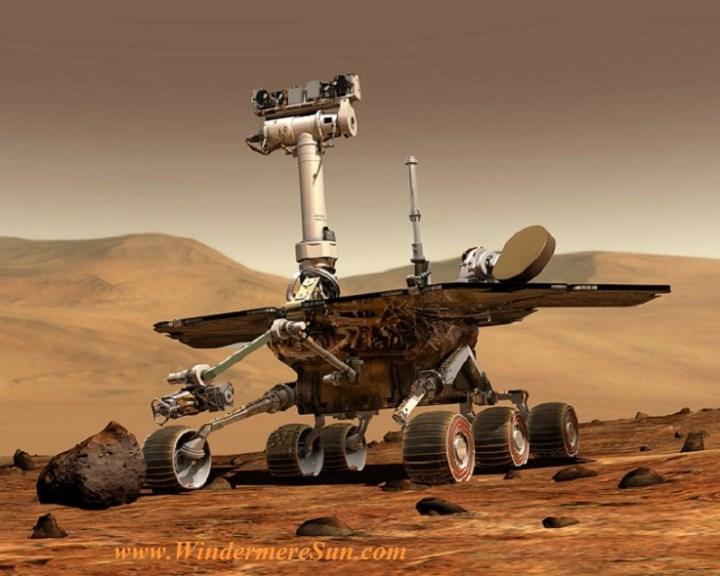 computer drawing of Rover on Mars (credit- NASA) final