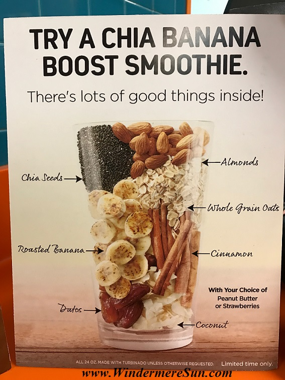 Chia Banana Boost Smoothie sign final