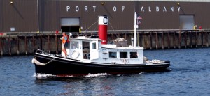 Tug boat in the port of Albany - photo by Lake Champlain Maritime Museum