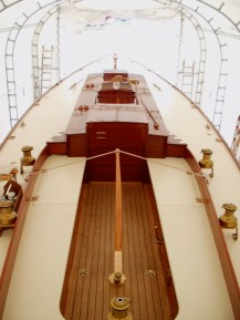 Herreshoff Buzzards Bay 30 restoration interior