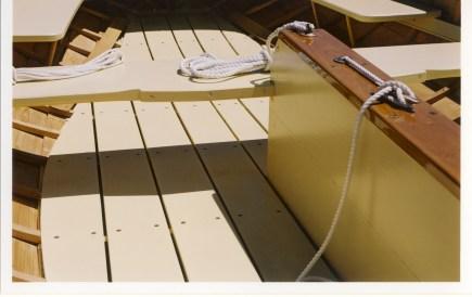 Custom wooden sail boat interior