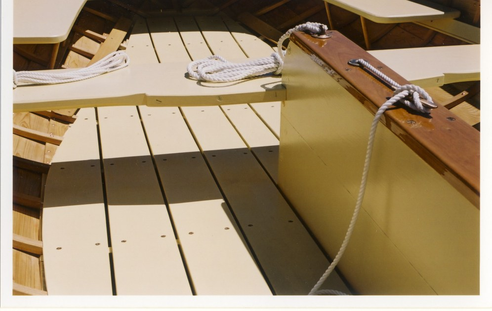 Custom wooden sail boat interior