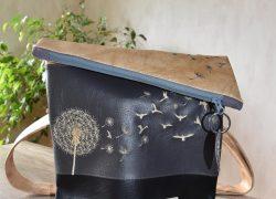 Pusteblume hellbraun-anthrazit-schwarz