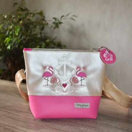 Flamingo-Anker perlmuttrosé-pink