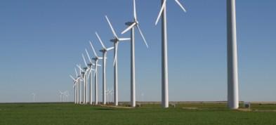 line of turbines