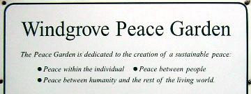Peace Garden sign