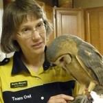 Karla Bloem with Barn Owl