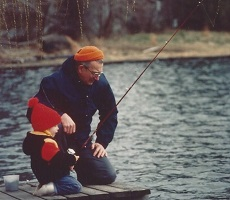 Kid fishing