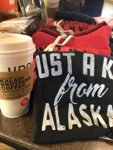 T-shirts and coffee