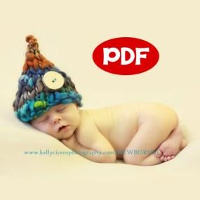 Newborn knitting pattern for photography prop, handspun yarn, winding the skein.com, WEE SPRITE KNITTING PATTERN pdf