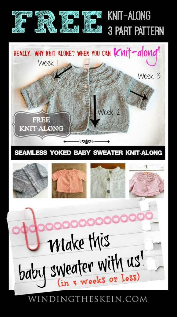 Seamless Yoked Baby Sweater knit-along week 3 - winding the skein