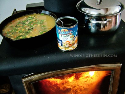 winding the skein, cooking on a woodstove, living without electricity