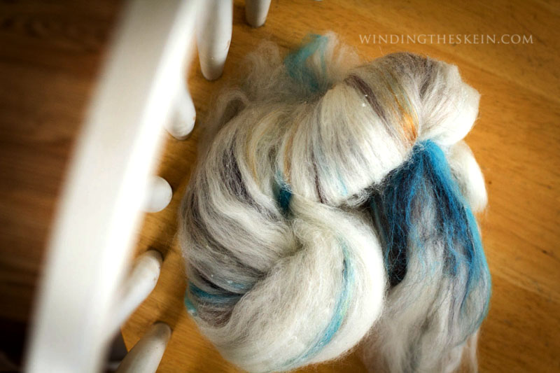 spinning fiber batts, windingtheskein.com