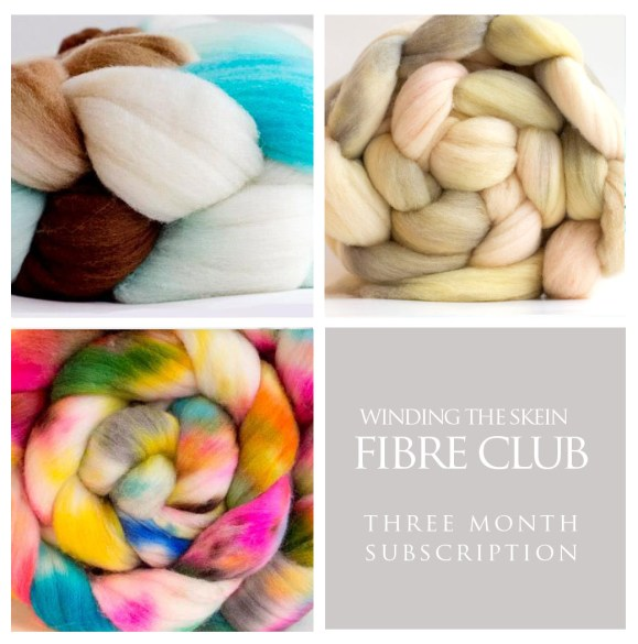 winding the skein, fibre club, 3 month subscription, fiber, roving, spinning, hand dyed