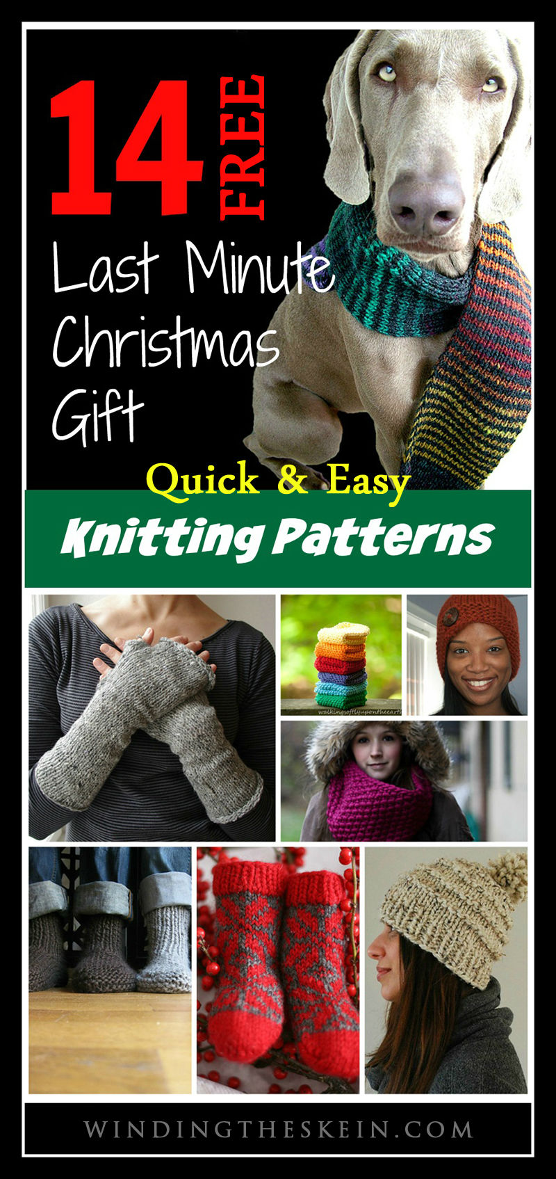 14 Quick, Easy & Free Last Minute Christmas Gift Knitting Patterns ...