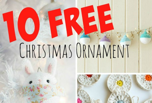 10 free crochet patterns for christmas ornaments