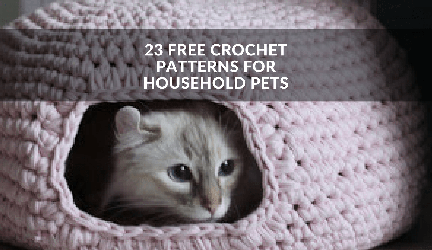 23 Free Crochet Patterns For Household Pets Winding The