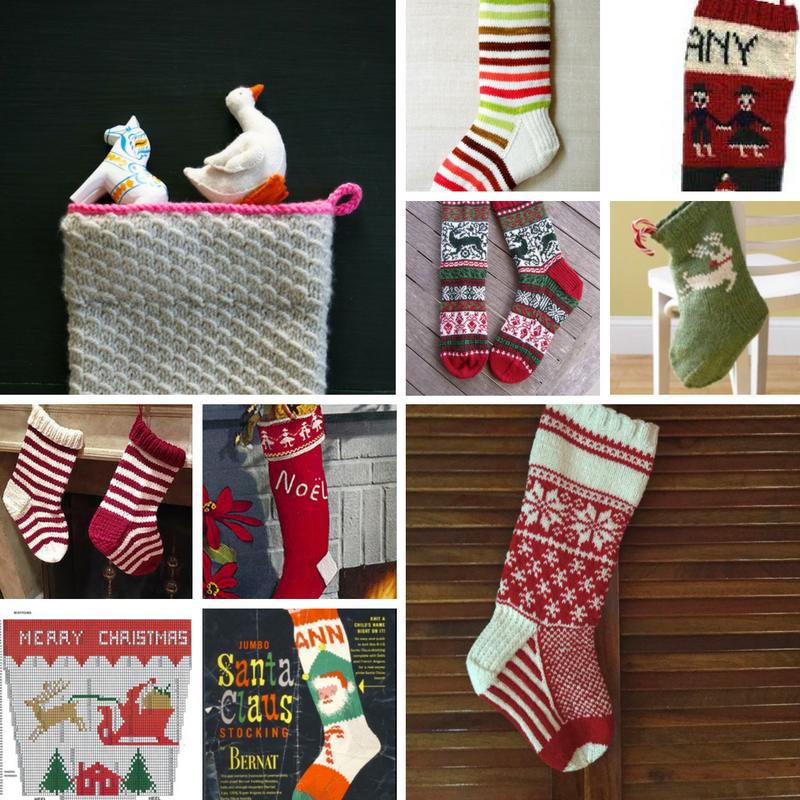10 Christmas Stocking Knitting Patterns - Winding the Skein
