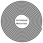 """button that says """"interns wanted"""""""