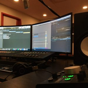 mixing and producing music in the recording studio
