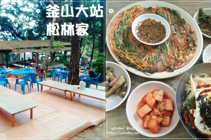 釜山大站美食∥ 如何前往釜山大學後院松樹林間涼床坐席的松林家솔밭집 鄉村料理的交通方式