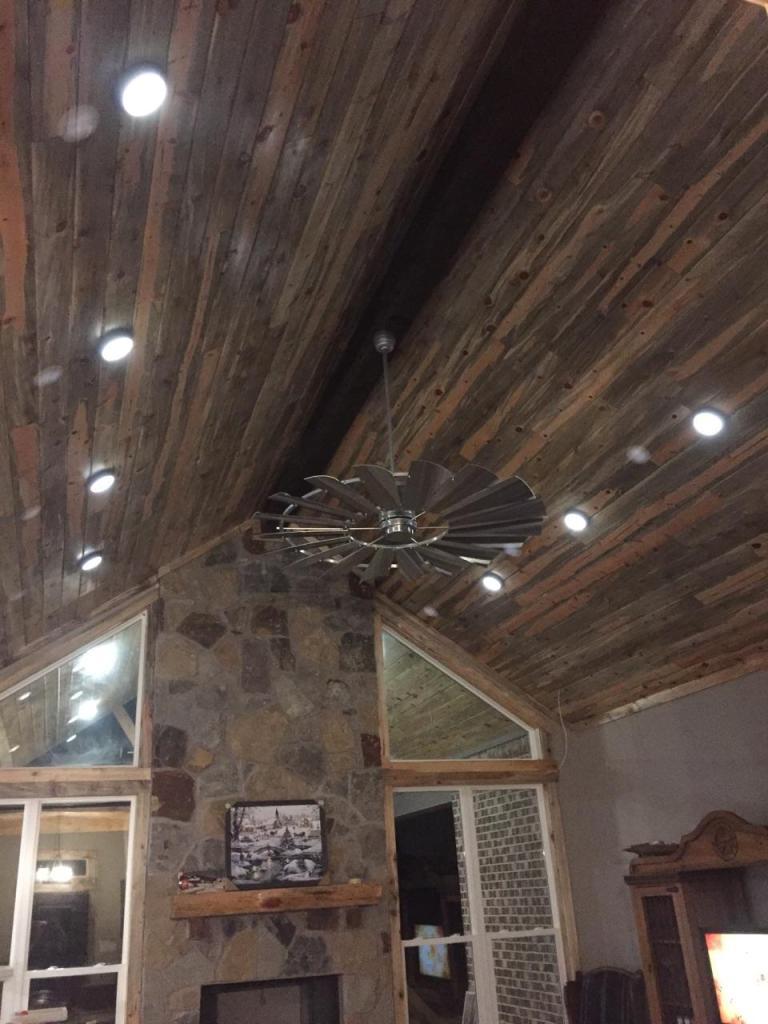 galvanized windmill ceiling fan