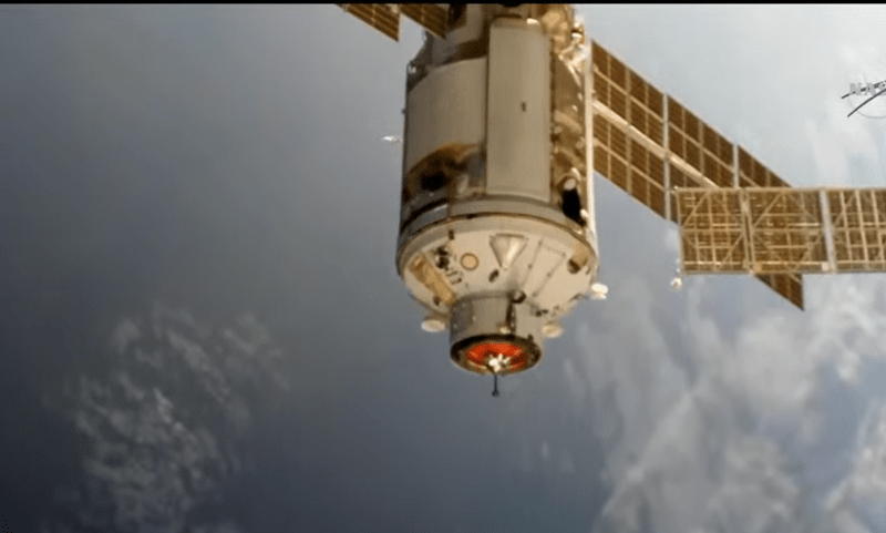 Russia's Nauka module briefly tilts space station with unplanned thruster fire, ,