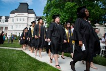 Brenau Women's College students on the front lawn of Brenau University's Gainesville campus during this year's Women's College Commencement.