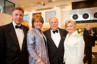 Brenau Trustee Jim Moore, former Trustee and alumna Evanda Moore, Brenau Trustee Phillip Wilheit and sculptor and Gala planner Mary Hart Wilheit pose for a quick portrait in the Manhattan Gallery during the Brenau Gala at the Downtown Center.