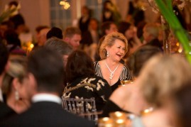 Brenau Trustee Carole Ann Daniel laughs with other guests at the Brenau Gala.