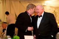 Philip Wilheit Jr., left, shares a word with Brenau Trustee Jim Walters during the Brenau Gala.