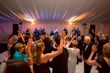 Nu Soul performs to a packed crowd under the tent at the Brenau Gala.
