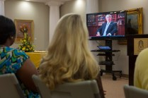 Brenau University President Ed Schrader made a virtual appearance to welcome the first students to Brenau's new occupational therapy doctoral program.