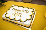 The cake for the new OTD program and students.