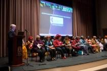 Brenau University President Ed Schrader introduces the Nigerian QBWA