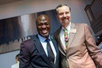 Dr. Gnimbin Ouattara, left, and Dr. Ken Frank