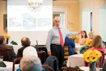 Brenau University President Ed Schrader during the 24 Karat Club and Golden Roses Tea