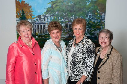 Members of the class of 1965, Faith Carter Inglis, Sally Bagwell Higgins, Paula Lumpkin Bailey, Marsha Hammond-White, pose for photos during their fifty-year reunion Friday, April 10, 2015 in Gainesville, Georgia. (Photo Barry Williams / Brenau University)