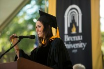 Amanda Slavin, founder and CEO of CatalystCreativ, addressed the 2015 graduates of the Brenau Women's College.