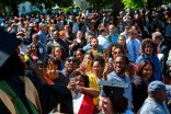 Friends and family members of this year's Brenau grads take pictures of their graduates after the 2015 Undergraduate and Graduate Commencement.