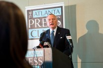 Governor Nathan Deal signed House Bill 62 into law during the Atlanta Press Club lunch Wednesday, April 29.