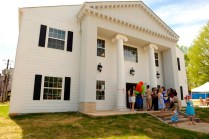 Alumnae and current students tour the new Alpha Chi Omega house Saturday, April 11, 2015 in Gainesville, Georgia. (Photo Barry Williams / Brenau University)