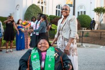 Byronica Banks poses for a portrait with her grandmother DeBerne Kelly.