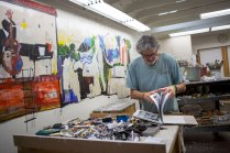Dennis Campay at his studio in Jacksonville, Florida.