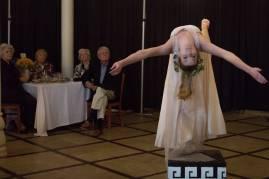 Melinda Cassiday, a senior dance studies major, performs a dance piece entitled 'Strength' at the 24 Karat Gold Club & Golden Roses Tea on Friday, April 15, 2016, in Gainesville, Ga. (AJ Reynolds/Brenau University)