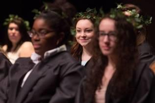 Emily Lemons smiles during Class Day at the Brenau University Alumnae Reunion Weekend on Saturday, April 16, 2016, in Gainesville, Ga. (AJ Reynolds/Brenau University)