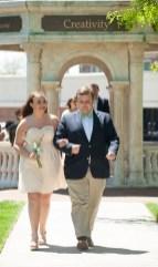Katherine Nell Fuller, freshman class representative, escorted by her Beau, Tripp Taylor. 2016 Alumnae Reunion Weekend