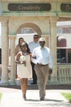 Nia Joi Byrd, sophomore class representative, escorted by her father, Gary Byrd. 2016 Alumnae Reunion Weekend